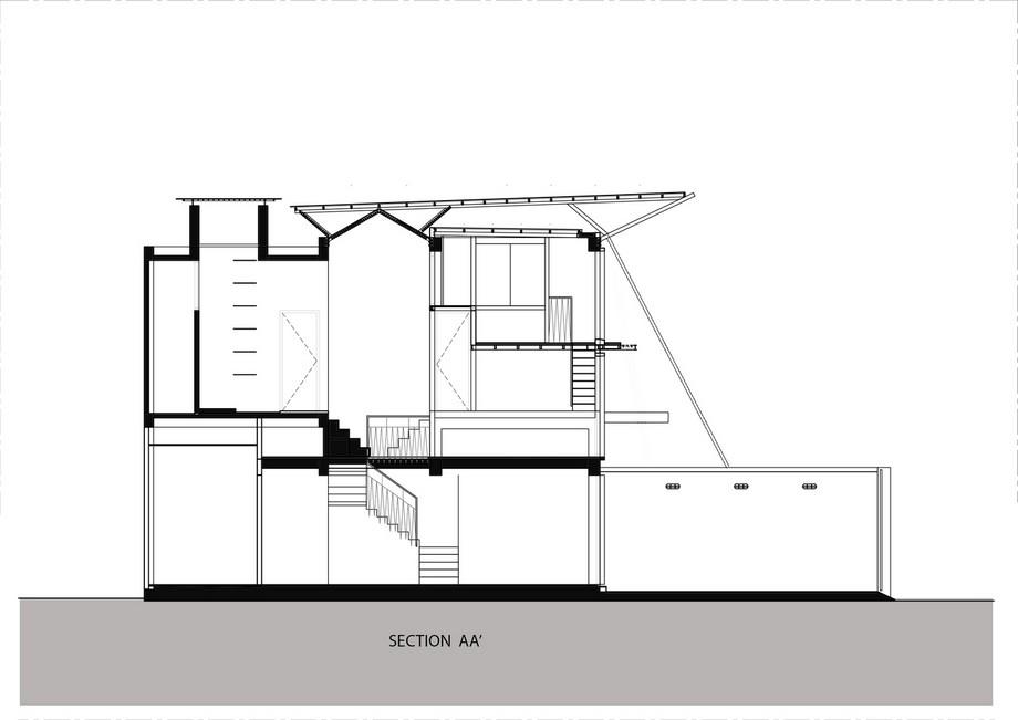 Bản vẽ thiết kế nhà phố 2 mái