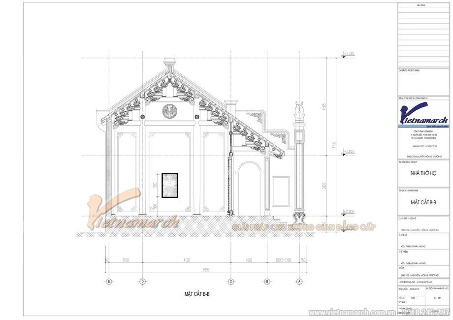 Bản vẽ thiết kế nhà thờ họ đẹp