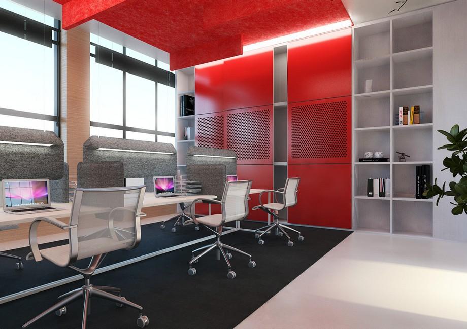thiết kế không gian làm việc chung