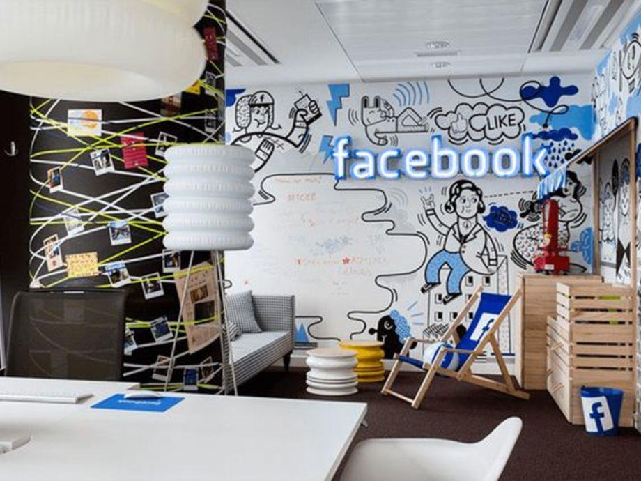 Background văn phòng Facebook