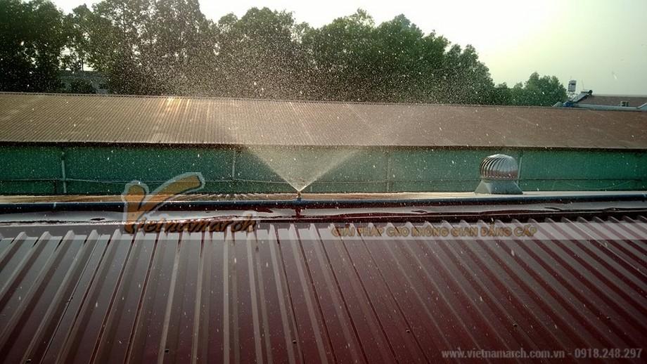 Giải pháp chống nóng cho mái nhà bằng hệ thống phun nước trên mái nhà