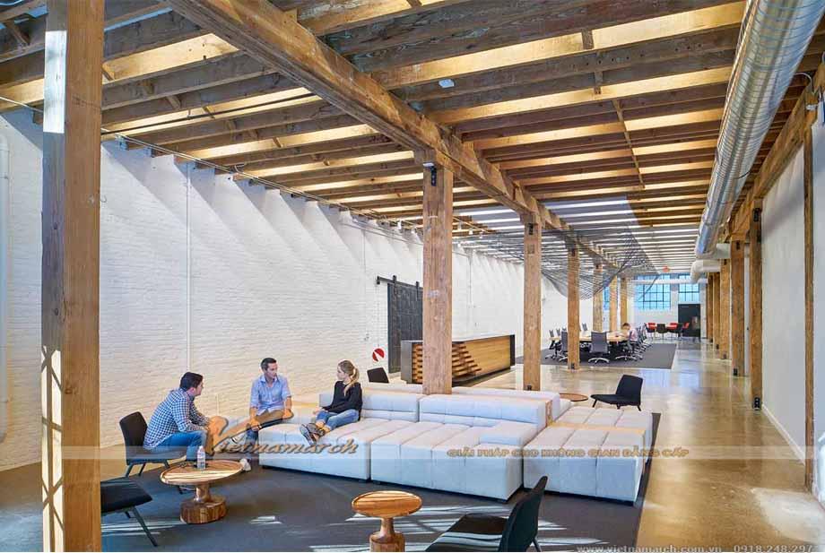 Mẫu thiết kế nội thất văn phòng có diện tích lớn trên 500m2