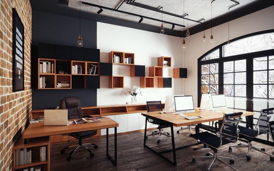Phong cách văn phòng industrial