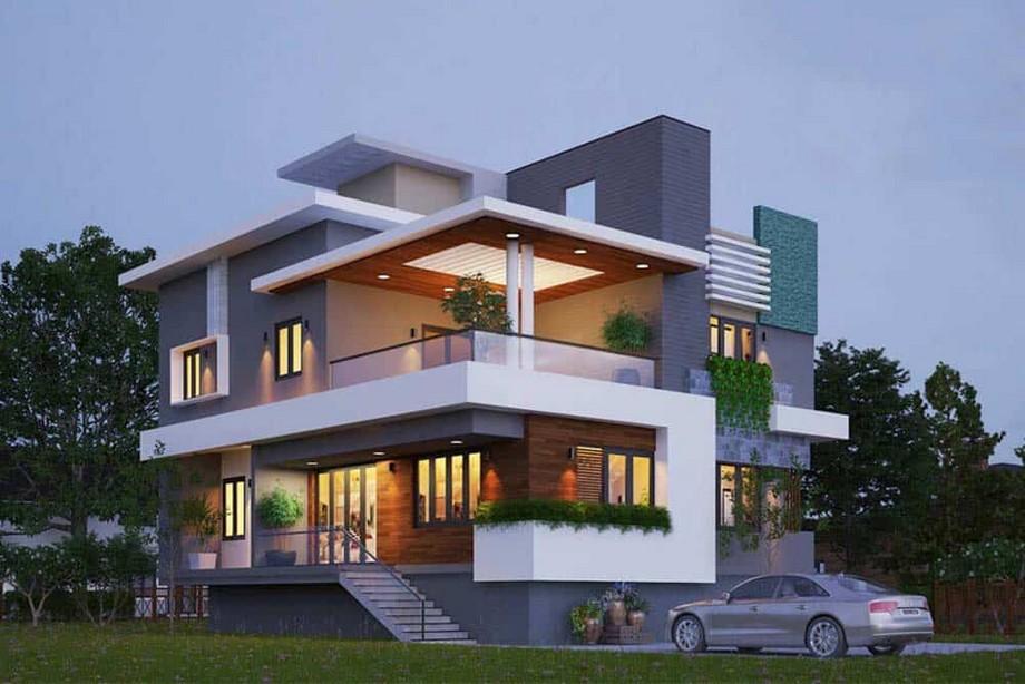 Thiết kế biệt thự 3 tầng 100m2 và so sánh với biệt thự thông thường