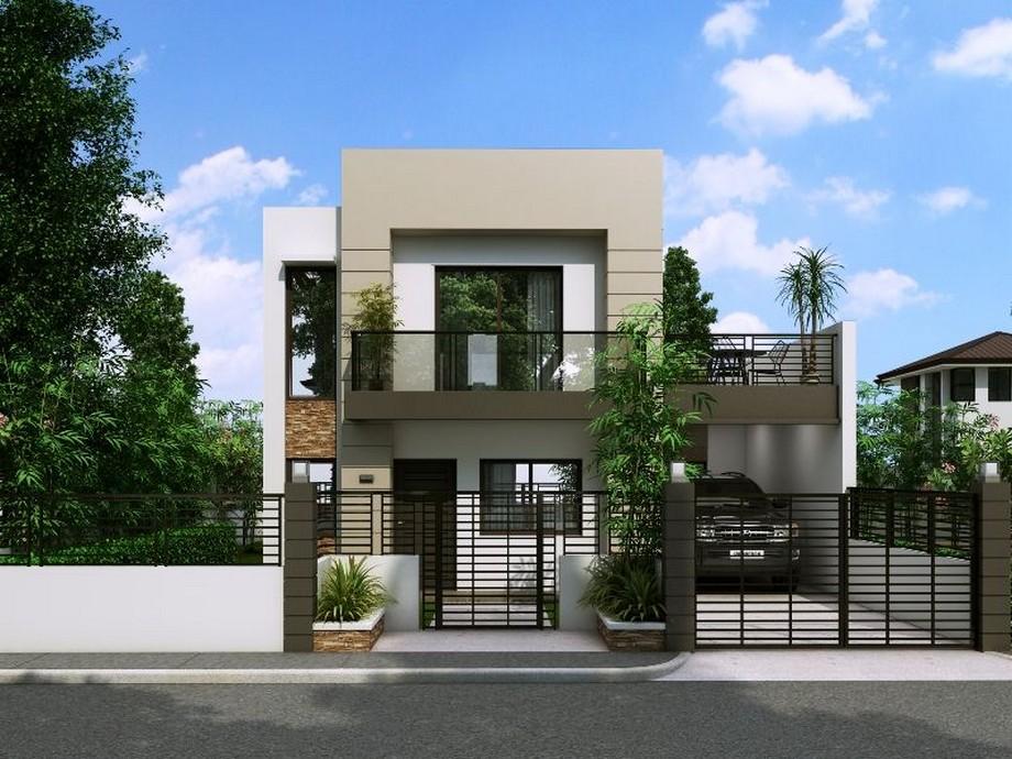 Thiết kế biệt thự mini hiện đại đơn giản