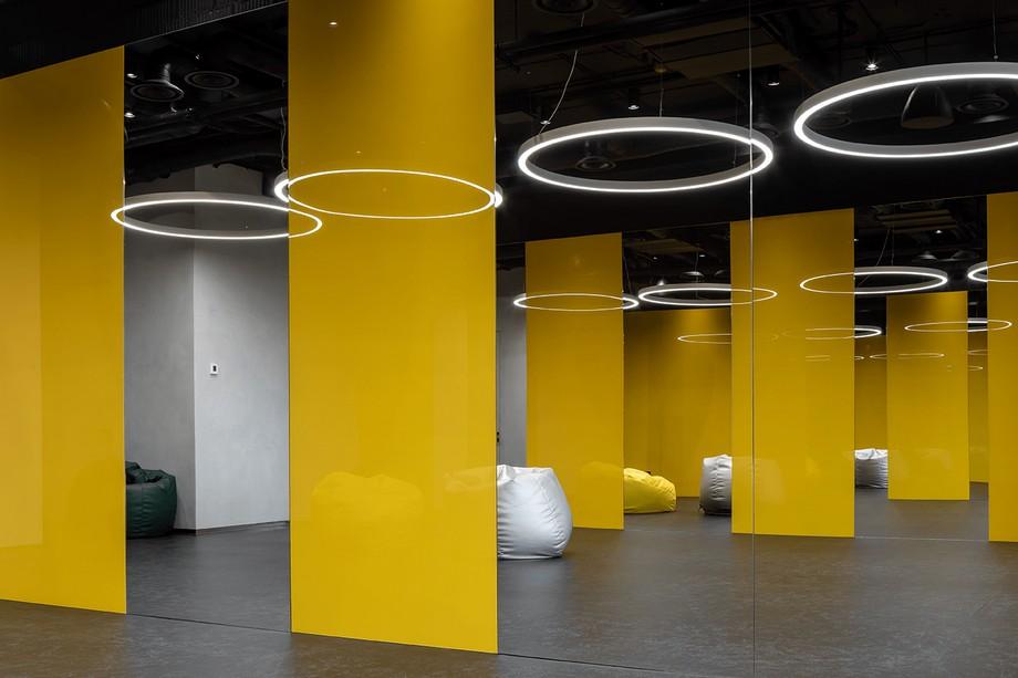 Không gian tập thể dục trong coworking space