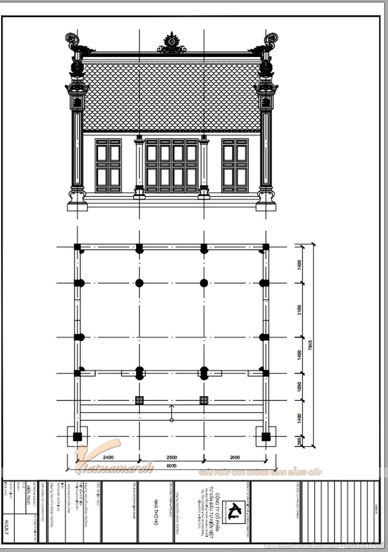 Bản vẽ thiết kế nhà thờ họ