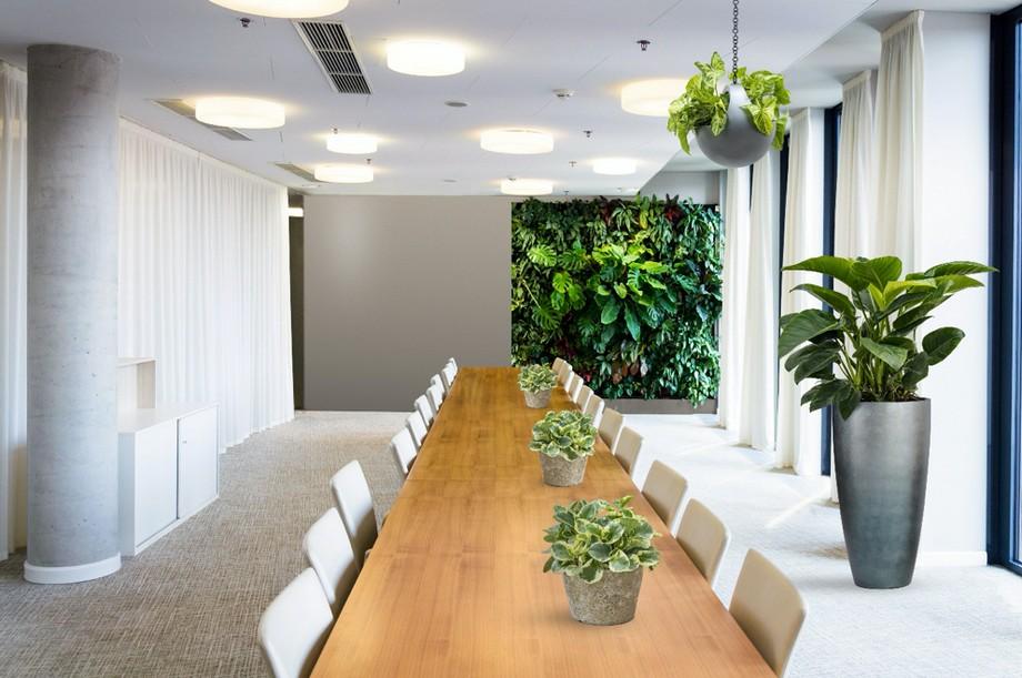 Thiết kế phòng họp xanh