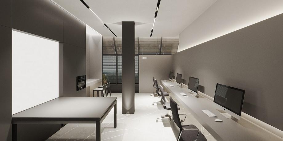 Bố trí nội thất văn phòng 200m2 đẹp