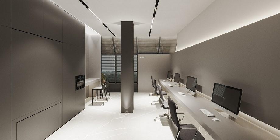 Dự án thiết kế văn phòng 200m2 Solomon theo phong cách tối giản