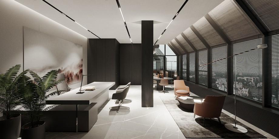 Thiết kế văn phòng 200m2 ấn tượng