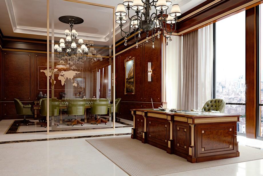 Mẫu thiết kế văn phòng cổ điển