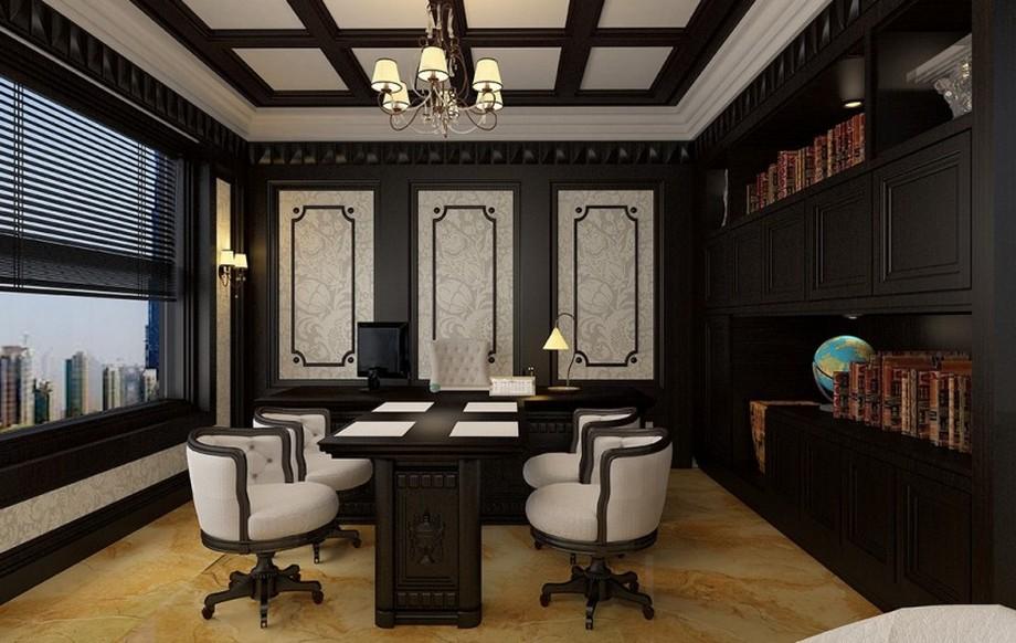 Màu sắc trong thiết kế văn phòng cổ điển