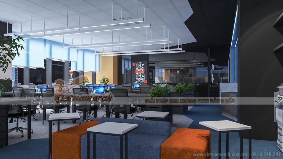 thiết kế nội thất văn phòng công ty công nghệ SSKPI