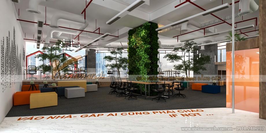 Văn phòng coworking space đẹp