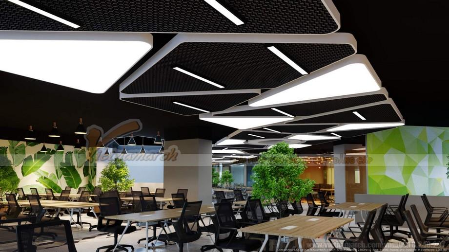 Mẫu thiết kế văn phòng không gian mở