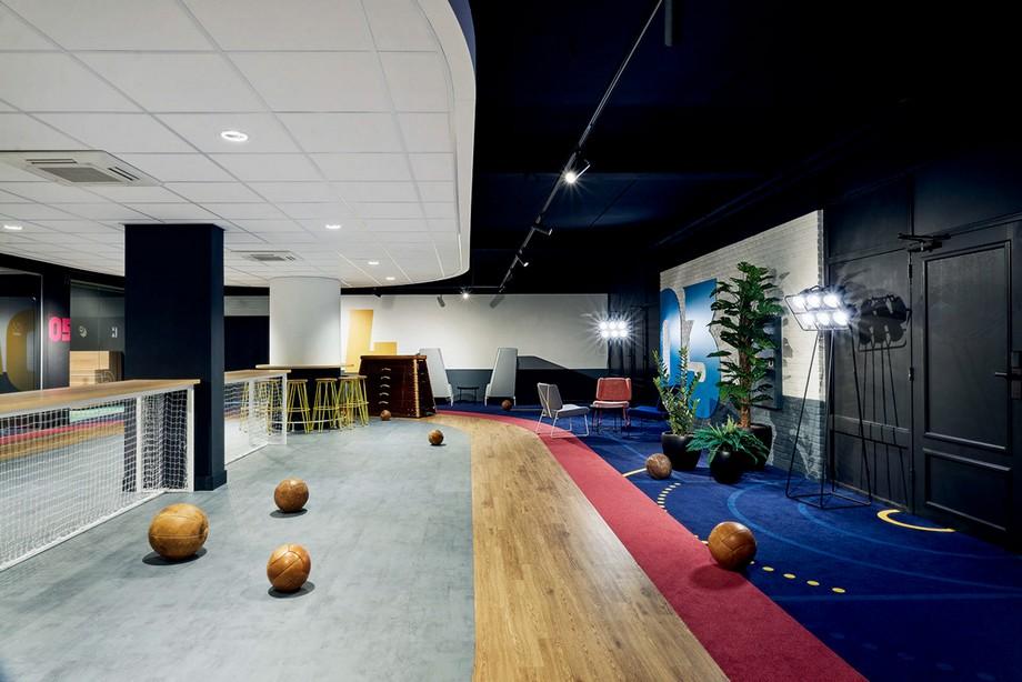 Thiết kế văn phòng sáng tạo với màu sắc