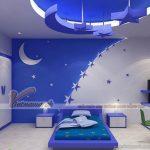 Trần thạch cao hình ngôi sao mang đến cho bạn căn phòng ngủ trong mơ
