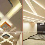 Trần thạch cao hình thoi và xu hướng thiết kế trần thạch cao 2020