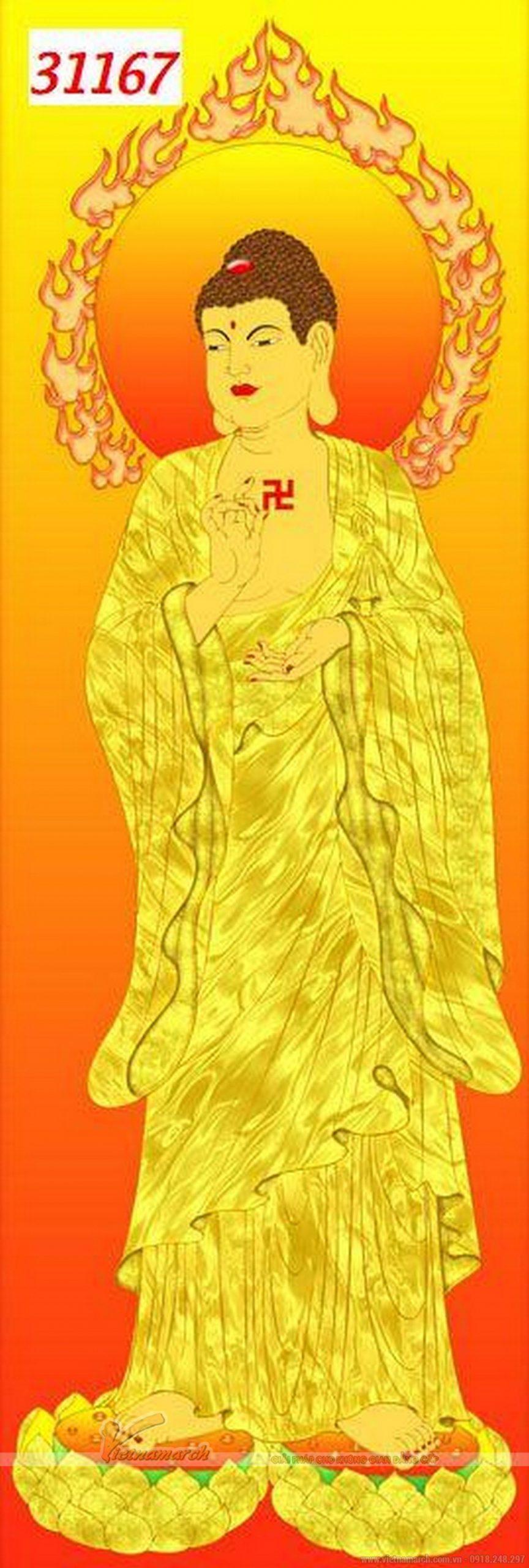 tranh 3D Phật di lặc