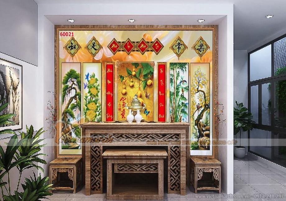 mẫu tranh 3D phòng thờ đẹp