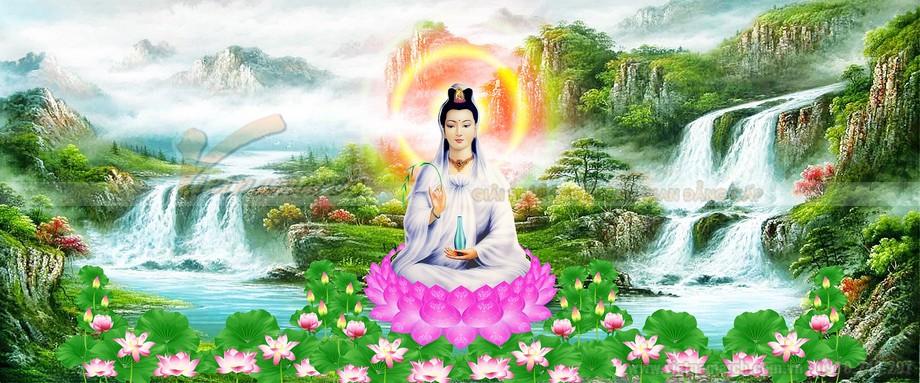 Mẫu tranh bàn thờ đạo Phật