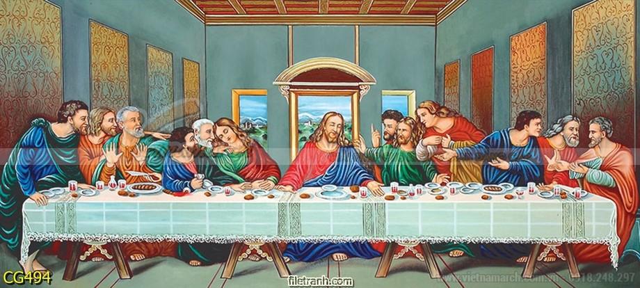 Mẫu tranh bàn thờ Thiên Chúa