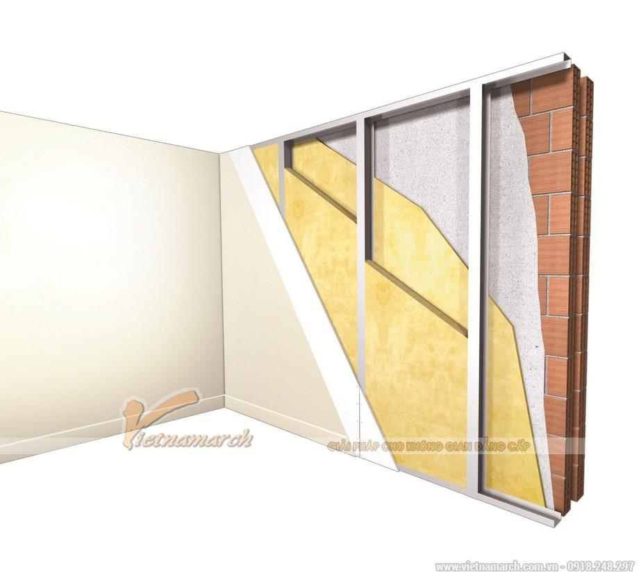 Sử dụng bông thủy tinh cách âm trong quá trình xây tường nhà