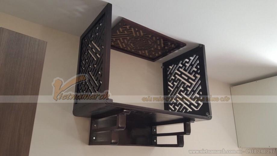 Vách ngăn bàn thờ treo tường mang lại sự thanh tịnh cho không gian thờ