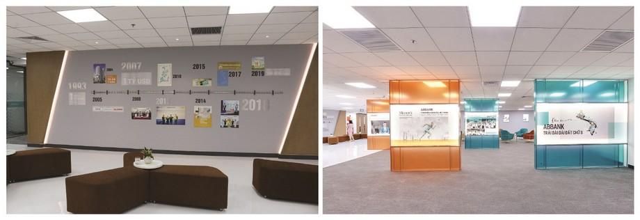 Trang trí văn phòng bằng hình ảnh doanh nghiệp