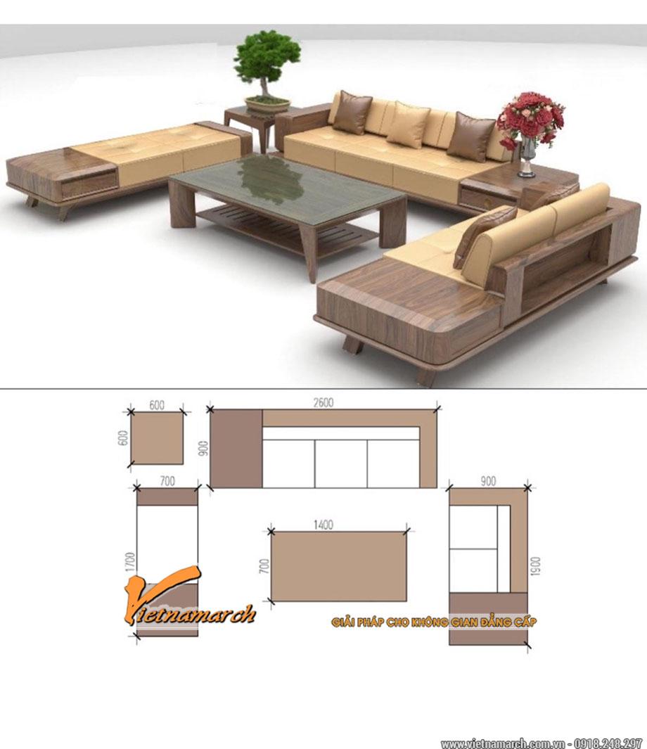 Mẫu bàn ghế Sofa gỗ sồi hiện đại giá rẻ nhất 2020