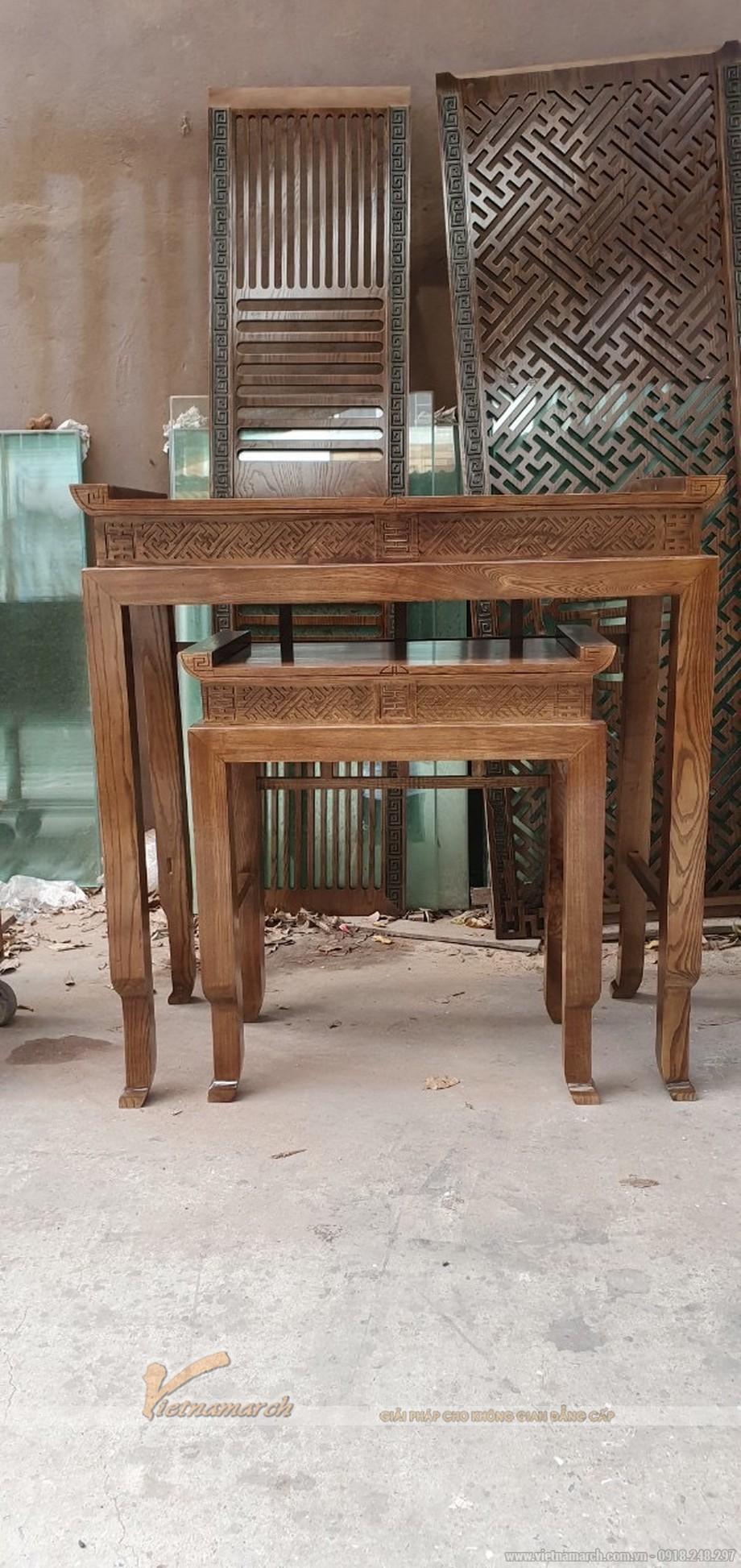 Mẫu bàn thờ chân quỳ đẹp