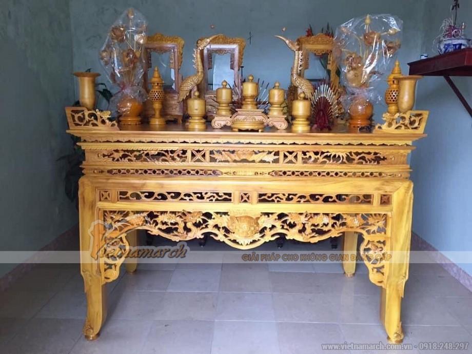 Những mẫu bàn thờ chân quỳ