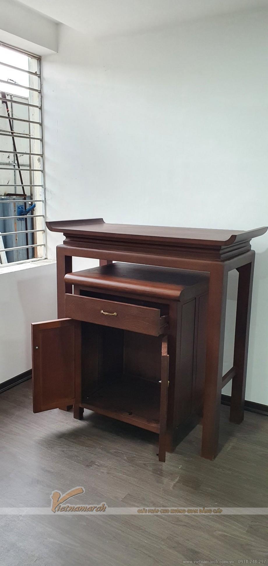 Mẫu bàn thờ đứng BTD09 cho chung cư CT12 kim văn kim lũ