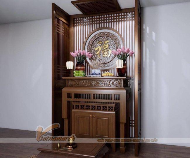 Mẫu Bàn thờ đứng gỗ gụ cao cấp BTD23 đẹp ngất ngây