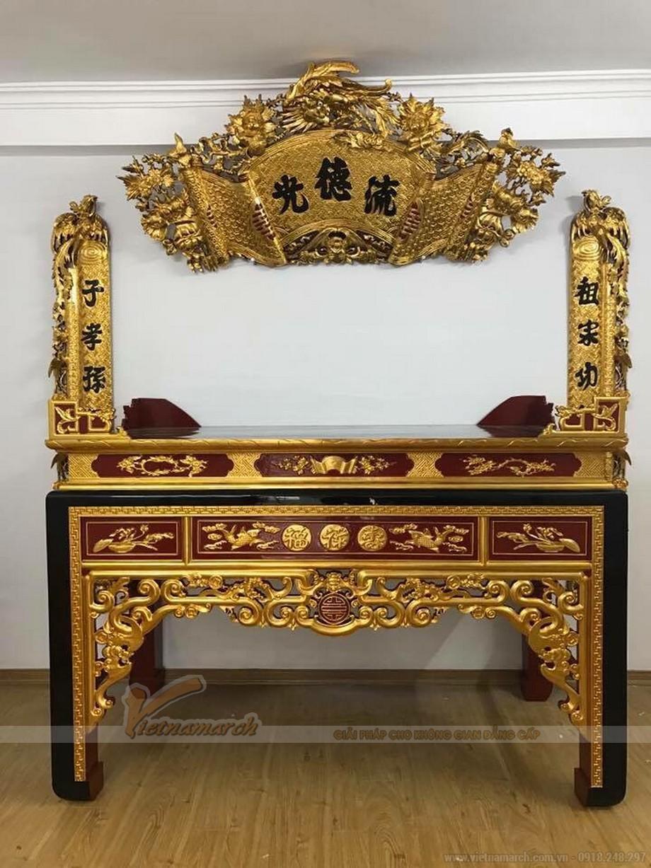 Ý nghĩa của bàn thờ sơn son thếp vàng