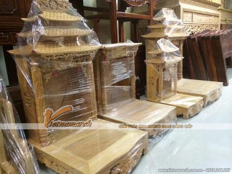 Mẫu bàn thờ thần tài mái chùa