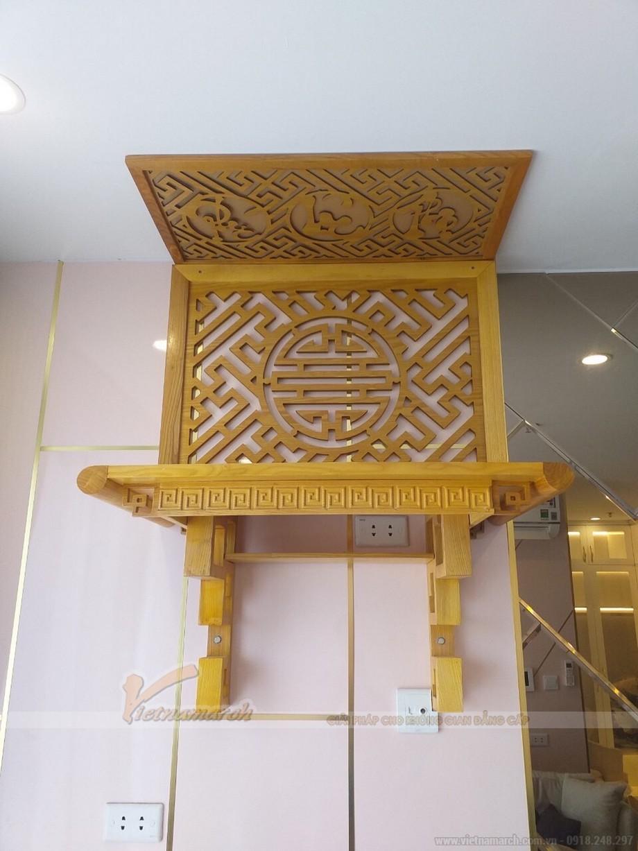 Bàn thờ treo gỗ mít của Vietnamarch được làm từ gỗ to bản