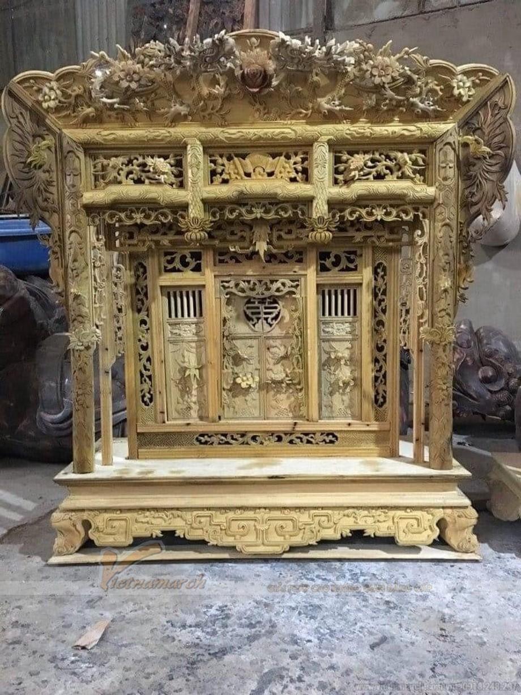Màu sắc ban thờ treo gỗ mít