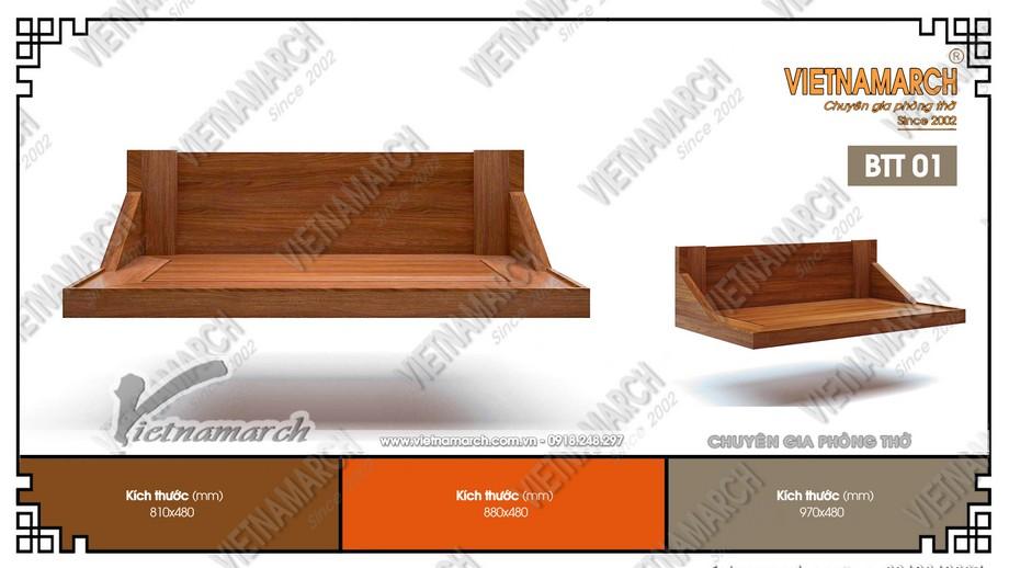 Bàn thờ treo gỗ sồi BTT01