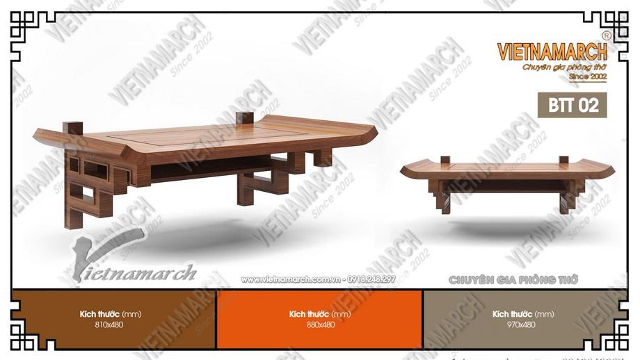 Mẫu bàn thờ treo 48x89cm gỗ sồi hiện đại cho chung cư Mipec Kiến Hưng - Hà Đông