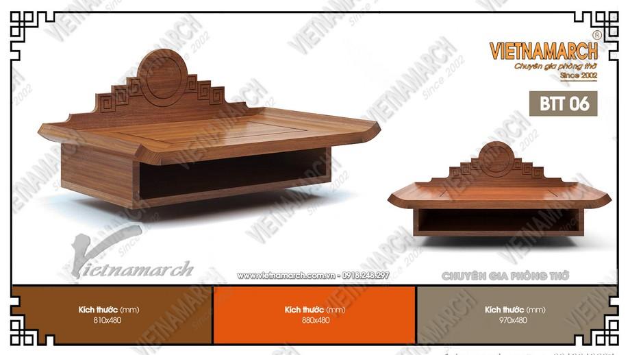 Bàn thờ treo gỗ sồi BTT06