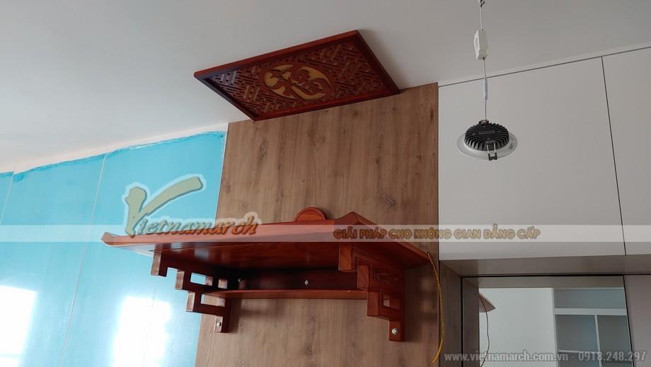 Bàn thờ treo gỗ hương với thiết kế đặc biệt