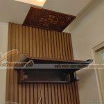 Lắp đặt bàn thờ treo cho chung cư Ecohome Phúc Lợi ngày mưa gió