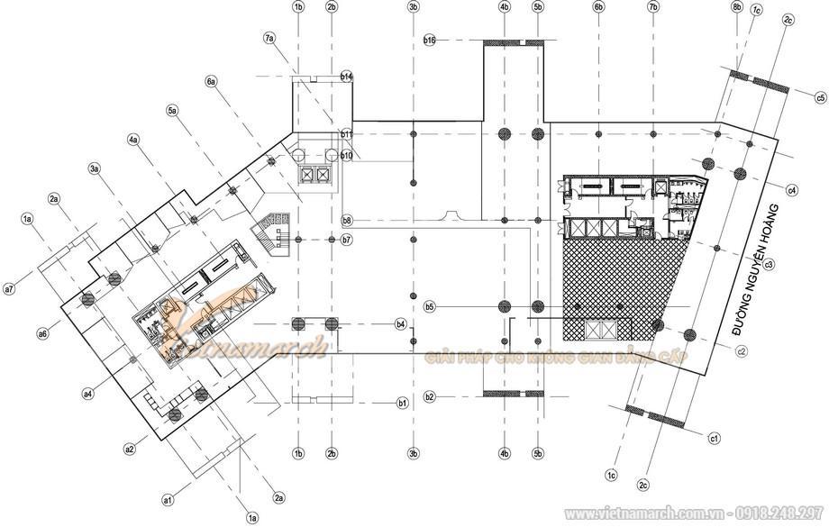Bản vẽ thiết kế văn phòng làm việc GNG
