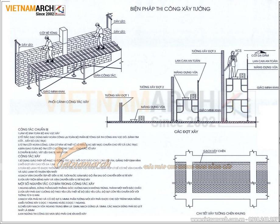 Biện pháp thi công xây tường trong thi công văn phòng chuyên nghiệp