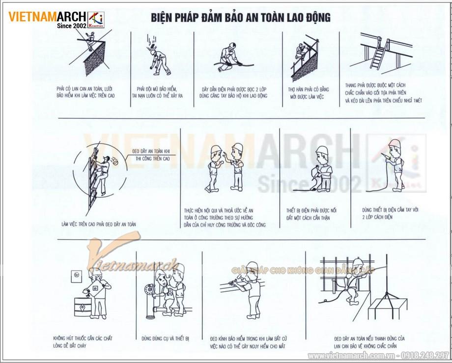 Biện pháp bảo đảm an toàn lao động trong thi công văn phòng