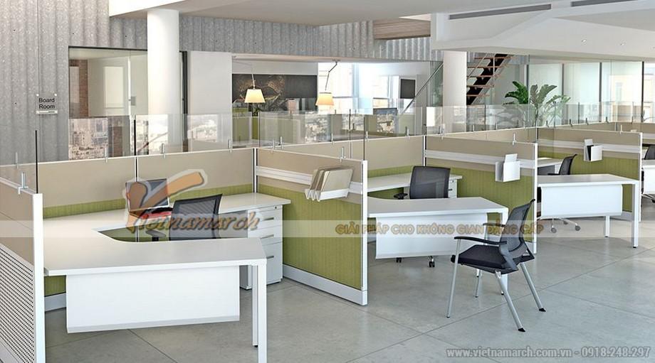 Thiết kế văn phòng phân vùng thấp