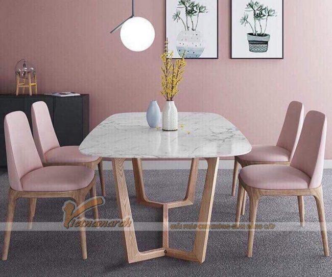 Mẫu bàn ăn hình chữ nhật