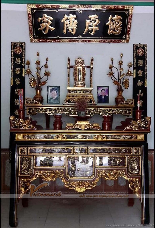 Cách đặt ban thờ bên nội bên ngoại trên cùng một ban thờ